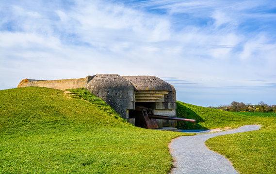 Longues sur Mer World War II german battery in Normandy, France.