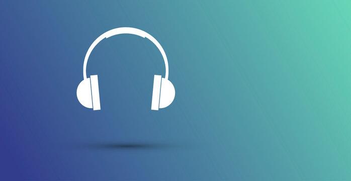 icona, cuffie, audio, musica
