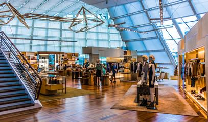 Interior of Louis Vuitton fashion house in Singapore