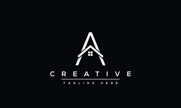 Unique modern minimalist creative letter A logo design. Vector icon template.
