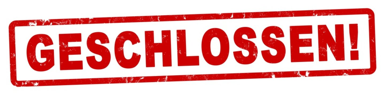 nlsb1361 NewLongStampBanner nlsb - german label / banner - Schild mit der Stempel Aufschrift: geschlossen! - new-version - 4zu1 xxl g9250