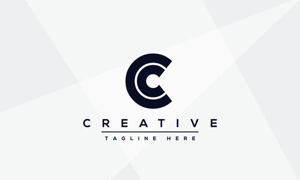 Modern creative letter C logo design. Minimal C, CC initial based vector icon.