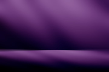 Fotobehang - Purple  empty room studio gradient used for background and display your product