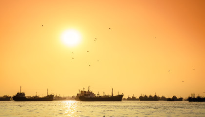 Sunset on the Karnaphuli River