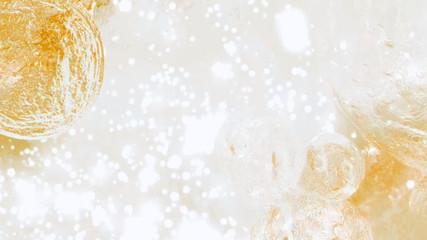 キラキラ 背景 水 金色 ゴールド Wall mural