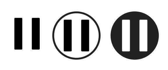 pause icon . web icon set .vector illustration