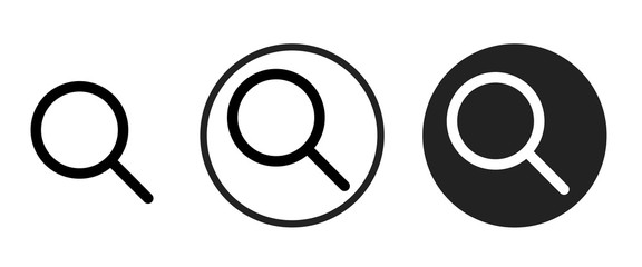 search icon . web icon set .vector illustration