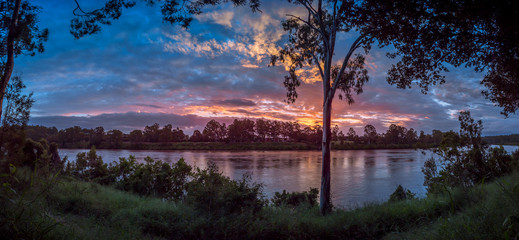 Panoramic River Sunset
