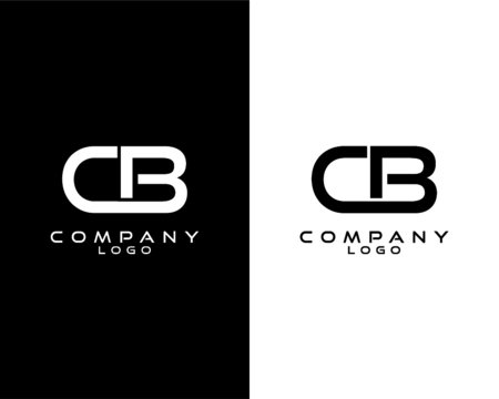 CB, BC modern logo design with white and black color that can be used for business company.