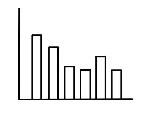 グラフ下落(線画)