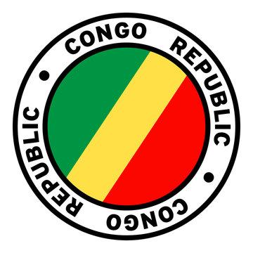 Round Congo Republic Flag Clipart