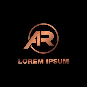 Letter AR logo design vector