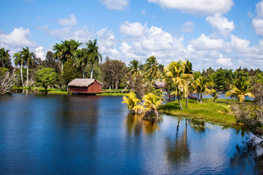 View of The Guama village, Zapata National Park, Cuba
