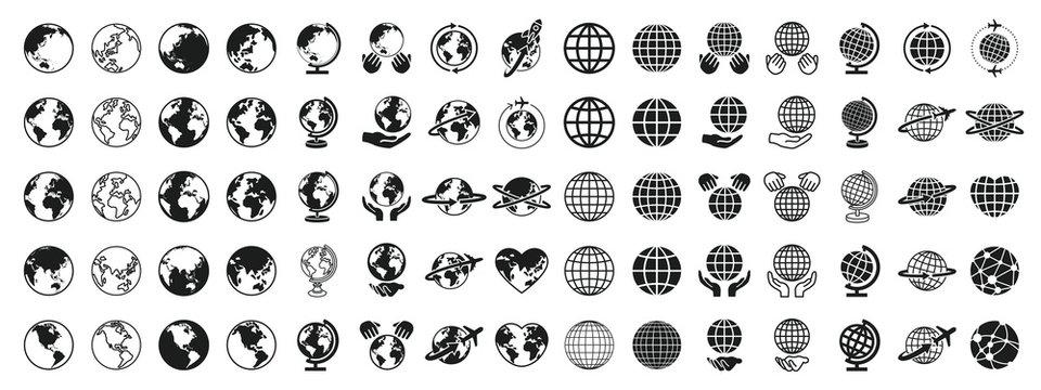 Earth Global Black and White Set