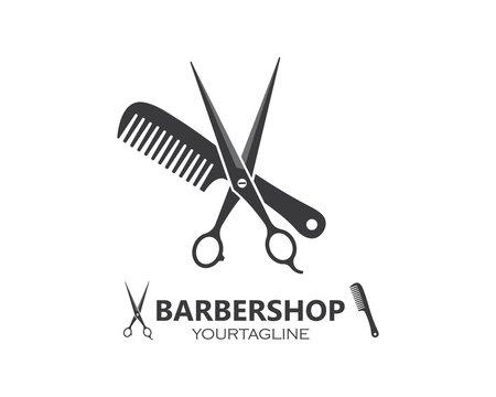 scissor icon logo vector illustration
