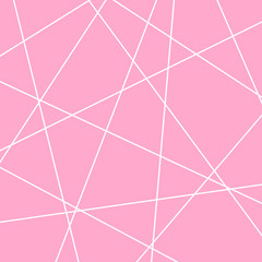 Wall Mural - Geometric art random intersecting lines.