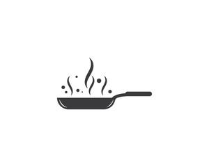 cooking pan logo vector template