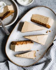 A no-bake pumpkin cheesecake