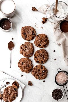 Large Chocolate Cookies