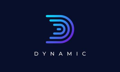 Fototapeta Blue Line D Logo obraz