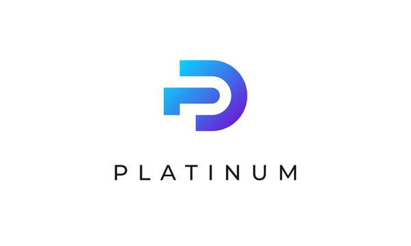 Letter P Logo Platinum Professional Company