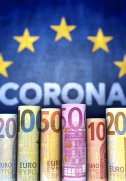 Coronavirus, Geld und EU, Hochformat
