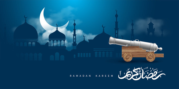Ramadan Kareem Celebration Greeting Design