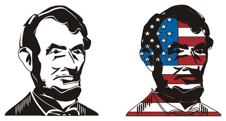 couple faces of Lincoln