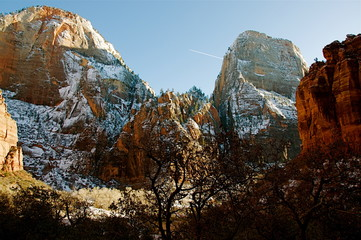 Printed roller blinds Brown The splendor of Zion National Park - a beautiful December day in the park