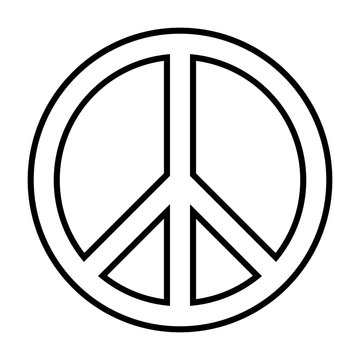 Peace sign icon for applications and websites