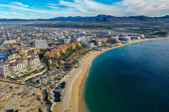 A 4k high definition aerial of Cabo San Lucas