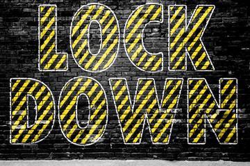 Lock Down CORONA VIRUS coronavirus graffiti
