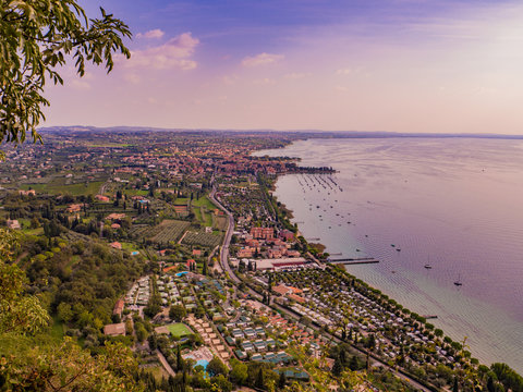 View of Bardolino on Lake Garda in Italy