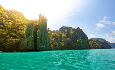 "Beautiful ""Cadlao Lagoon"", Island beach next to famous El Nido, Palawan, Philippines, Tour D."