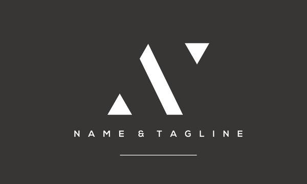Alphabet letter icon logo AY