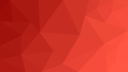 Abstract red geometric background. Red low poly concept illustration