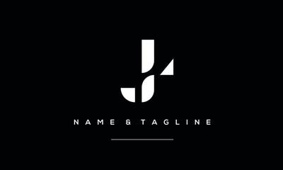 Alphabet letter icon logo LJ or JL Fototapete