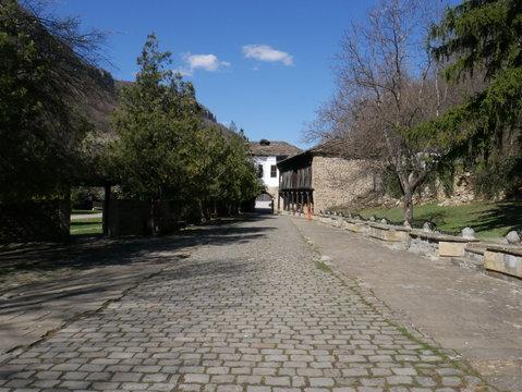 Coure d'un monastère