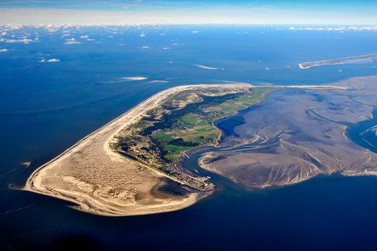Amrum Insel in der Nordsee aus der Luft