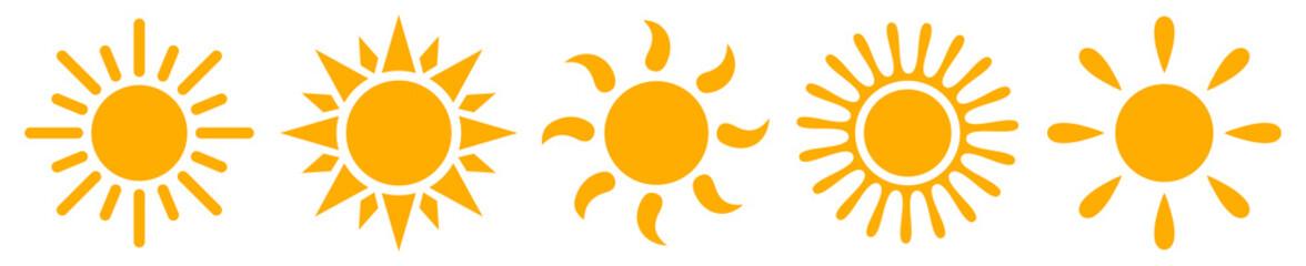 Set sun icons - stock vector Wall mural