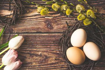 Obraz Wielkanoc, jajka wielkanosne  - fototapety do salonu