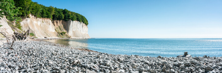 Chalk cliffs on Rügen island along the Baltic sea