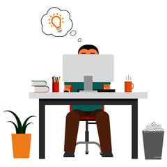 Fototapeta graphic designer office worker idea at work obraz
