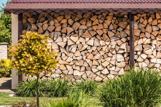 Firewood Woodshed Stack
