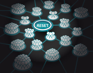 Reset button_pushed_stick man_connected_glow_dark background__by jziprian