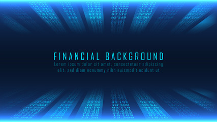 Financial background in numbers concept
