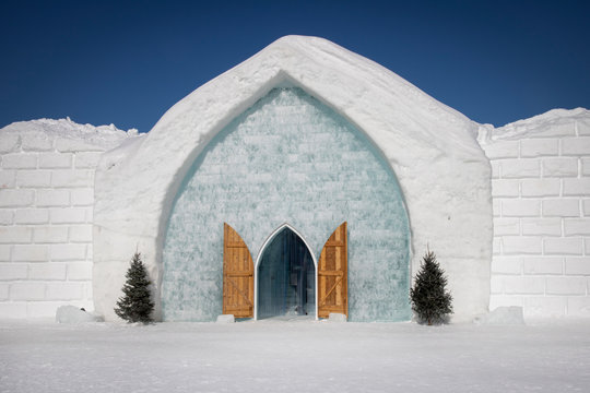 Icehotel is a hotel and an art exhibition with ever-changing art made out of ice and snow