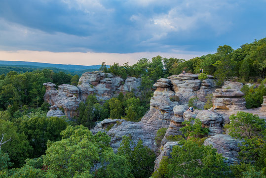 The Garden of Gods in Shawnee National Forest Herod Illinois USA