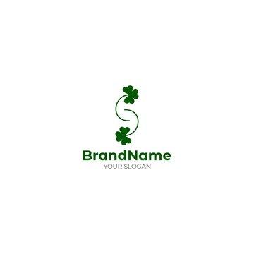 S Saint Patrick Logo Design Vector