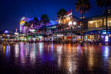 Harbourside of Sydney by Night